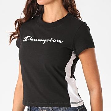 Champion - Tee Shirt Femme A Bandes 113384 Noir