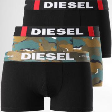 Diesel - Lot de 3 Boxers Damien 00ST3V Noir Turquoise