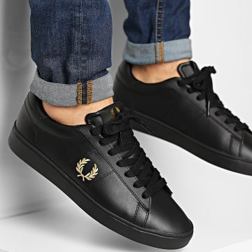 Fred Perry - Baskets Spencer Leather B8250 Black