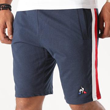 Le Coq Sportif - Short Jogging Tricolore A Bandes Saison 1 N1 2020645 Bleu Marine