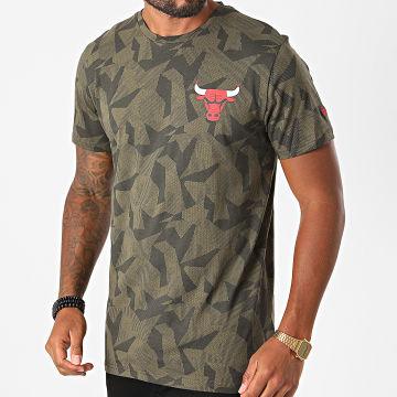 New Era - Tee Shirt Chicago Bulls Geometric Camouflage 12485741 Vert Kaki