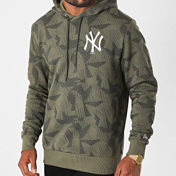 New Era - Sweat Capuche New York Yankees Geometric Camouflage 12485746 Vert Kaki