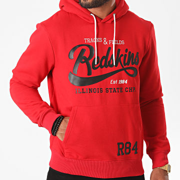 Redskins - Sweat Capuche State Poster Rouge