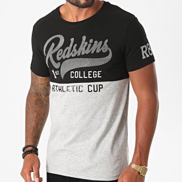 Redskins - Tee Shirt Pitre Hecta Noir Gris Chiné