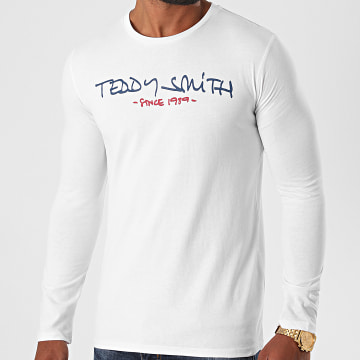 Teddy Smith - Tee Shirt Manches Longues Ticlass Basic Blanc