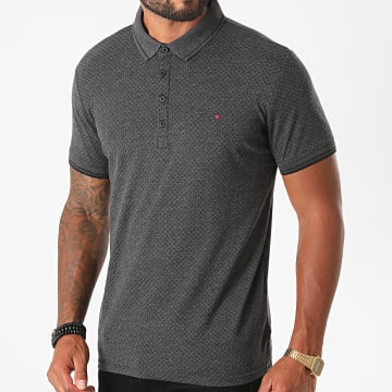 Teddy Smith - Polo Manches Courtes Sam 2 Gris Anthracite Chiné