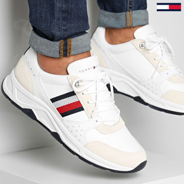 Tommy Hilfiger - Baskets Fashion Leather Runner 3084 White