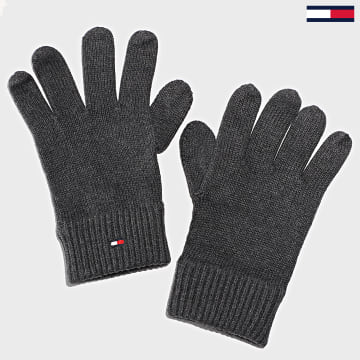 Tommy Hilfiger - Gants Pima Cotton 6591 Gris Anthracite Chiné