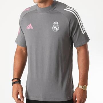 Adidas Performance - Tee Shirt A Bandes Real FQ7871 Gris