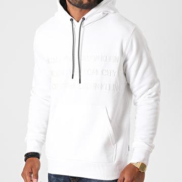 Calvin Klein - Sweat Capuche Graphic Embroidery 5720 Blanc