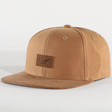 Reell Jeans - Casquette Snapback Suede Camel