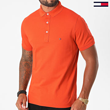 Tommy Hilfiger - Polo Manches Courtes Tommy Slim 0764 Orange