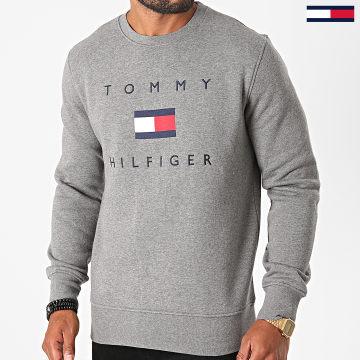 Tommy Hilfiger - Sweat Crewneck Tommy Flag 4204 Gris Chiné