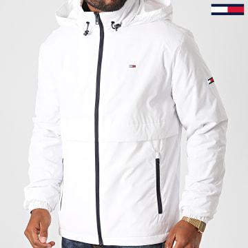 Tommy Jeans - Veste Zippée Capuche Nylon Yoke 9476 Blanc