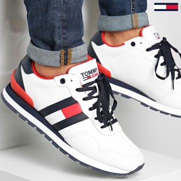 Tommy Hilfiger - Baskets Lifestyle Leather Runner 0577 White