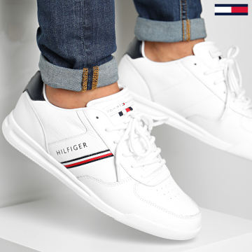 Tommy Hilfiger - Baskets Lightweight Leather Mix Sneaker 2988 White