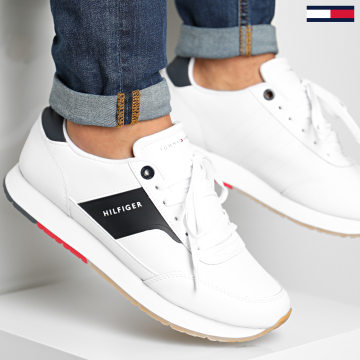 Tommy Hilfiger - Baskets Corporate Leather Runner 2996 White