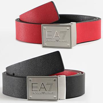 EA7 - Ceinture Réversible 245524 Noir Rouge