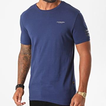 G-Star - Tee Shirt Text GR D17135-336 Bleu Marine