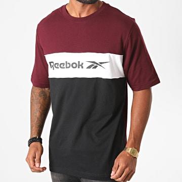 Reebok - Tee Shirt Tricolore Classic F Linear FT7341 Bordeaux Noir Blanc