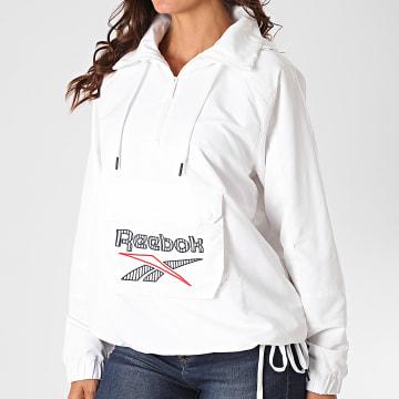Reebok - Veste Col Zippé Capuche Femme FT6285 Blanc