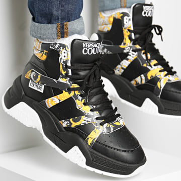 Versace Jeans Couture - Baskets Montantes Linea Fondo Fire E0YZASF3-71609 Black Renaissance
