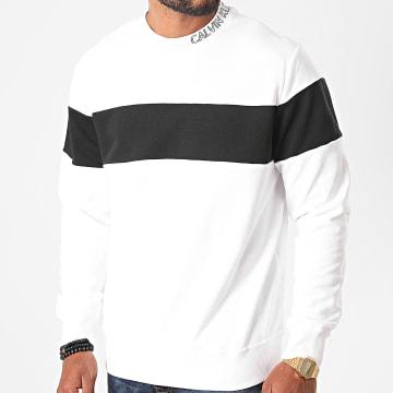 Calvin Klein - Sweat Crewneck Collar Logo Block 6515 Blanc