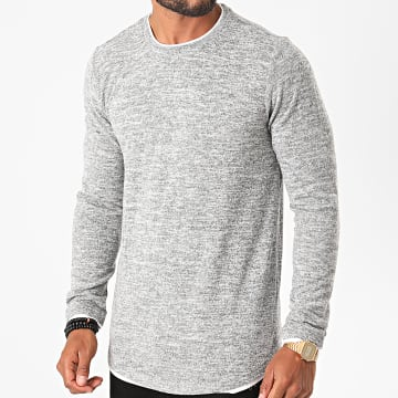 Deeluxe - Tee Shirt Manches Longues Oversize Mohanson Gris Chiné