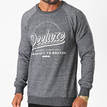 Deeluxe - Sweat Crewneck Meribel Bleu Marine Chiné