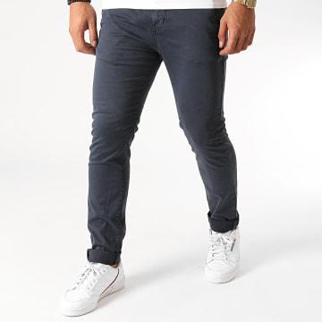 Deeluxe - Pantalon Chino Slim Lawson Bleu Marine