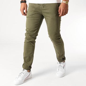 Deeluxe - Pantalon Chino Slim Lawson Vert Kaki
