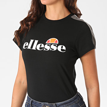 Ellesse - Tee Shirt Femme A Bandes Malis SGG09674 Noir