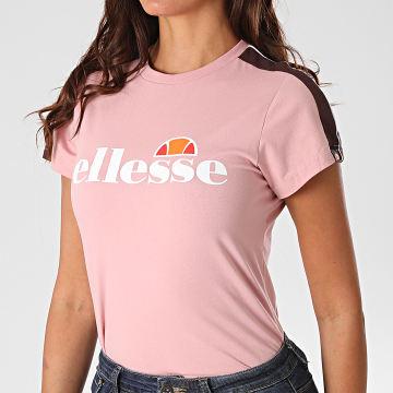 Ellesse - Tee Shirt Femme A Bandes Malis SGG09674 Rose