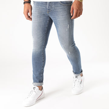 GRJ Denim - Jean Slim 14385 Bleu Denim