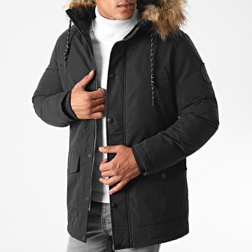 Jack And Jones - Parka Fourrure Sky Noir