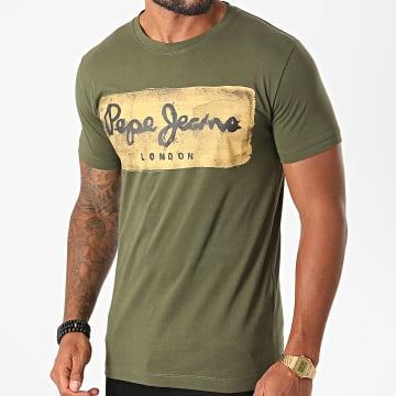 Pepe Jeans - Tee Shirt Charing Vert Kaki