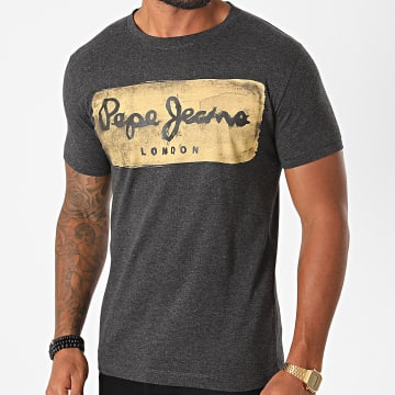 Pepe Jeans - Tee Shirt Charing Gris Anthracite Chiné