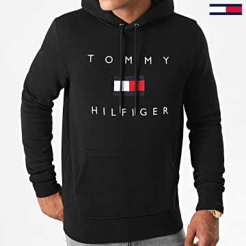 Tommy Hilfiger - Sweat Capuche Tommy Flag 4203 Noir
