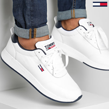 Tommy Hilfiger - Baskets Flexi Mix Runner 0579 White