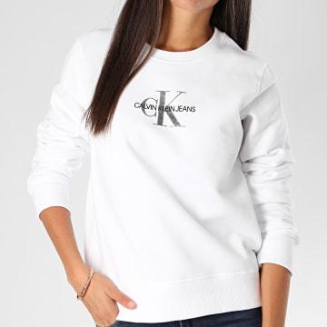 Calvin Klein - Sweat Crewneck Femme 5145 Blanc