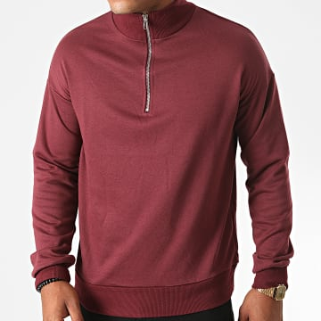 Frilivin - Sweat Col Zippé BM1145 Bordeaux