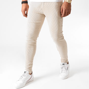 Frilivin - Pantalon A Rayures 1763 Beige
