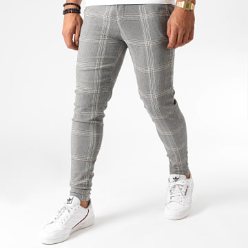 Frilivin - Pantalon A Carreaux 1812 Gris Chiné