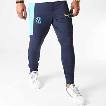 Puma - Pantalon Jogging OM 757736 Bleu Marine Doré