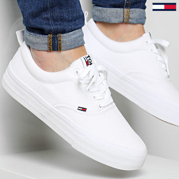 Tommy Jeans - Baskets Classic Tommy Jeans Sneaker 0530 White