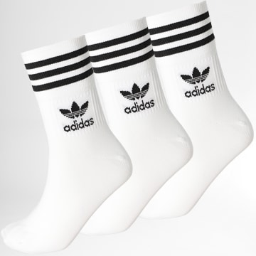 Adidas Originals - Lot De 3 Chaussettes Mid Cut GD3575 Blanc