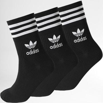 Adidas Originals - Lot De 3 Chaussettes Mid Cut GD3576 Noir