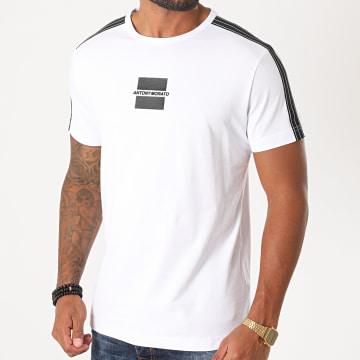 Antony Morato - Tee Shirt A Bandes MMKS01839 Blanc