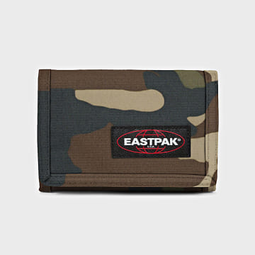 Eastpak - Portefeuille Crew Single Camo Vert Kaki