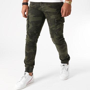 Frilivin - Jogger Pant 8716 Vert Kaki Camouflage